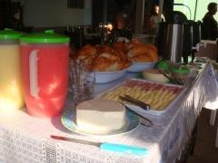 Delicioso café da manhã da pousada