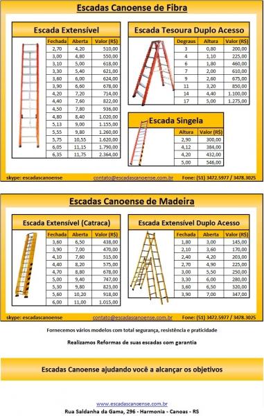 Preços das Escadas de Fibra e Madeira
