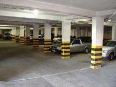 Garagem do hotel