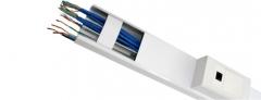 Canaleta de alumínio - solução que oferece custo benefício! é a solução ideal para distribuição de fios e cabos, seu design se adapta em qualquer ambiente, evitando quebra de paredes e minimizando gastos com obras.
