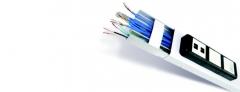 Canaleta de alum�nio - solu��o que oferece custo benef�cio! � a solu��o ideal para distribui��o de fios e cabos, seu design se adapta em qualquer ambiente, evitando quebra de paredes e minimizando gastos com obras.