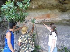 Pinturas rupestres - turismo em piraí do sul