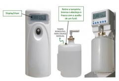 Aparelho autom�tico aromatizador de ambiente - permite o uso de qualquer l�quido aromatizador