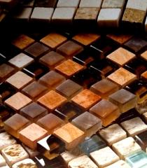 Pastilhas de coco e bambu -pastilhart - www.pastilhart.com.br