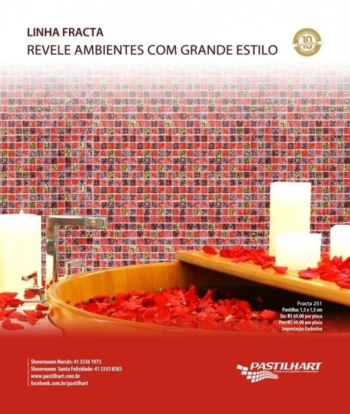 Pastilhas de vidro Fracta Pastilhart - www.pastilhart.com.br