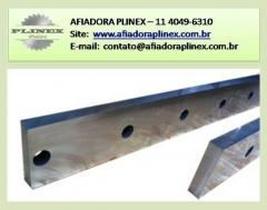 AfiaÇÃo e fabricaÇÃo de facas de guilhotina - afiadora plinex 11 4049-6310