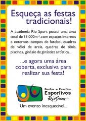 Panfleto rio sport center