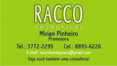 Cartão racco cosméticos