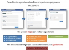 Agendamento pela sua página no Facebook