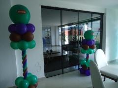 Pingentes decorativos festa do hulk