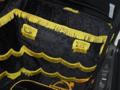 TapeÇaria volvo fh personalizada em preta com amarela.