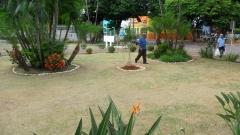 Manuten�ao do jardin da camara municipal