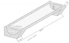 Forma metálica para cocho suino