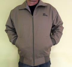 Jaqueta de brim forrada, para uso profissional