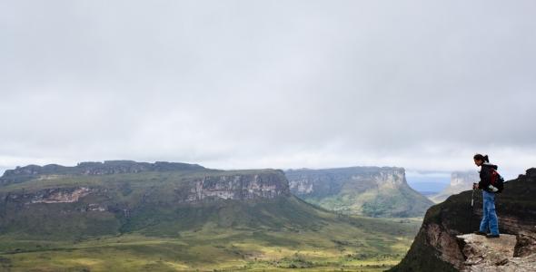 No alto do Morro do Pai Inácio - Chapada Diamantina - Bahia - Brasil.
