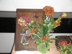 Arranjo floral em mdf