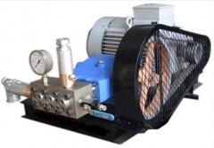 Máquina de hidrojateamento - hidrojato - teste hidrostático