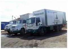 Imagens da frota de caminhões