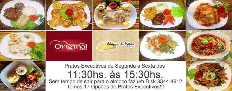Banner Virtual, Cliente: Restaurante Chapéu de Palha e Bar Original. Banner de Pratos Executivos.