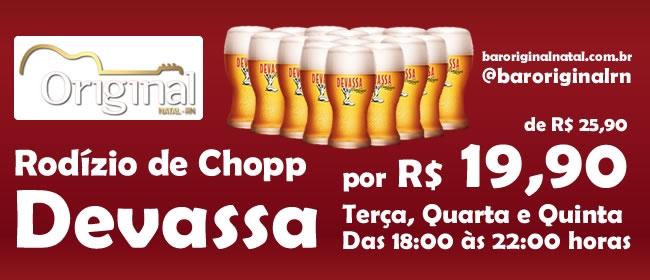 Banner Virtual, Cliente: Bar Original. Rodízio de Chopp.