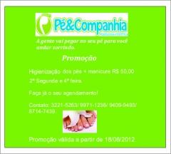 Banner virtual, cliente: pé & companhia. promoção segunda e quarta.
