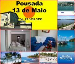 Pousada 13 de maio  resp.: priscilla e marta te.: 73 3632 3133/9179 7773/ 8118 9719 e-mail: pousada13demaio@hotmail.com  visite nossa página.  http://www.uniaodemarcas.com.br/tecnologia/showproperty/1-brasil/2-bahia/2-ilheus/164-alugueis-e-vendas-de-imoveis/33-moveis/652-pousada-13-de-maio.html