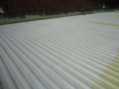 Telhado protegido com espuma de poliuretano - impresol