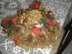 arranjo natalino para mesa