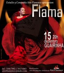 Espetáculo FLAMA DIA 15/12/2013 NO TEATRO GUAÍRA