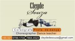 Cartão de visitas, Cleyde de Souza, coreógrafa.