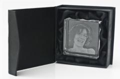 Foto cristal (2D e 3D); presente personalizado