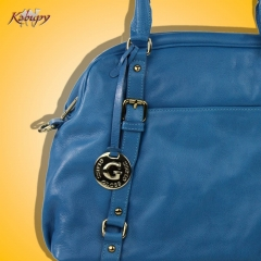 Bolsa feminina de couro kabupy k0324 azul