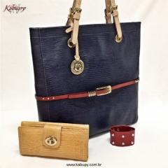 Bolsa feminina kabupy k0322 azul marinho