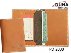 Porta documentos pd 2000 - personalizado com seu logotipo em baixo relevo ou silk screen, com abas e duas divisórias para cartão.