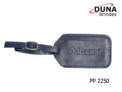 Identificador de bagagem pp 2250 - personalizado com seu logotipo em baixo relevo, confeccionado em couro legítimo, couro sintético ou couro ecológico (recouro).