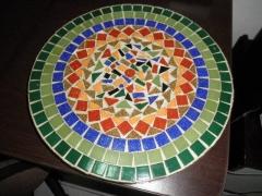 mosaico em mdf ( prato giratório )