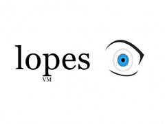 Logo empresa lopes visual merchandising