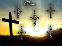 Pingente de cruz  com corrente masculina ou feminina- joias carmine