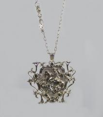 Pingente são jorge com corrente e pedras na cor esmeralda - joias carmine