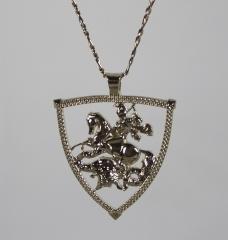 Pingente são jorge com corrente  - joias carmine