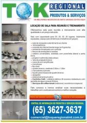 Locação de sala auditório para treinamento e reunião em cuiabá mt