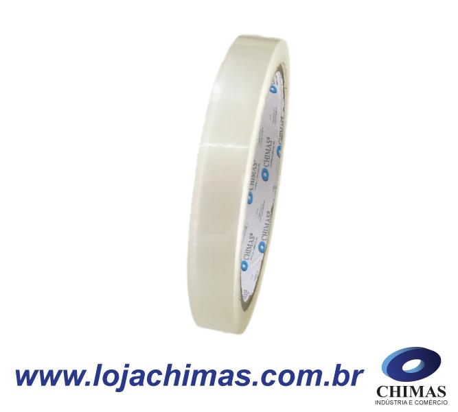 Fita Adesiva CHIMAS Acrílica Transparente 12X50M Disponível em BOPP 40 Micras