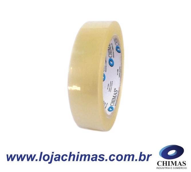 Fita Adesiva CHIMAS Acrílica Transparente 24x100m Disponível em BOPP 40 Micras