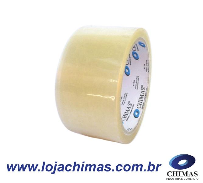 Fita Adesiva CHIMAS Acrílica Transparente 48X50M Disponível em BOPP 40 Micras
