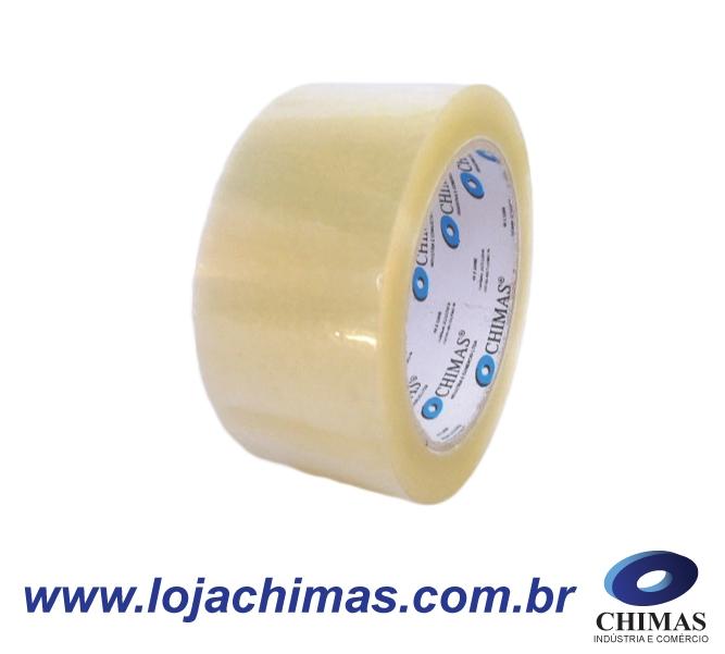 Fita Adesiva CHIMAS Acrílica Transparente 48X100M Disponível em BOPP 40 Micras - 45 Micras - 50 Micras