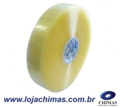 Fita adesiva chimas acrílica transparente 48x1200m disponível em bopp - 45 micras ideal para máquina fechadora de caixas.