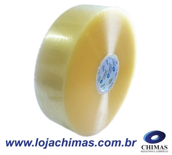 Fita Adesiva CHIMAS Acrílica Transparente 72X100M Disponível em BOPP - 45 Micras Ideal para Máquina Fechadora de Caixas.