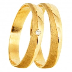 Par de alianças de casamento em ouro anelar al267