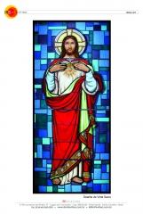 Técnica tradicional em vitral - religioso 1
