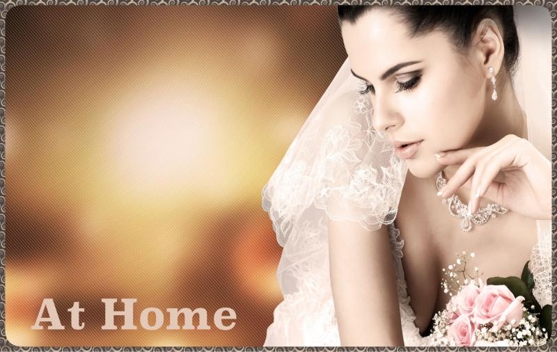 Atendendo noivas no conforto de suas casas.